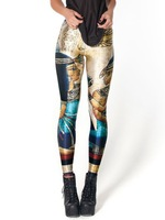 New Arrival Women 2013 Designed digital Printed milk vintage Egypt Pharaoh leggings S106-317