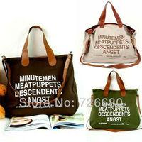 Free shipping! Fashion Messenger Bags Canvas Super Letter Single-shoulder Shopping Tote Handbag Casual Shoulder Bag 128-0022