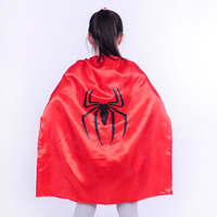 Custom Children Spiderman Cape,Christmas Gifts Cloak ,Halloween Show Spiderman Cape ,Spiderman Theatrical Performances L80*70CM