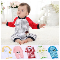Free shipping Baby Rompers Cartoon jumpsuit Newborn clothes 100% natural cotton  Leotard baby clothes 0-12M 21 Style Retail
