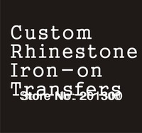 Custom rhinestone transfers rhinestone motif (this link is for custom order only,please read instruction below!)