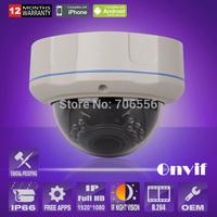 2.0 Megapixel 1920*1080P Camera HD H.264 Onvif Waterproof Zoom Varifocal 2.8-12MM IR CCTV Security Camera Network IP Camera