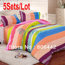 Wholesale 5Sets/Lot 3PCS Bedding Sets/Bedclothes/ Duvet Covers Bed Sheet Bedspread Pillowcase Home Textile Set 16935-16944(China (Mainland))