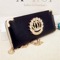 New long lady's purse bump color set auger wallet cute zipper handbag fashion mobile phone bag