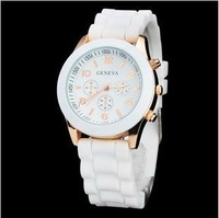 sale New Fashion  Ladies sports brand silicone watch jelly watch quartz watch for women men+ Free Shipping