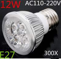 300pcs/lot High Power E27 E14 MR16 GU10 B22 4X3W 12w Led Lamp  Spotlight 85V-265V Led Light Lighting Led Bulbs free shipping