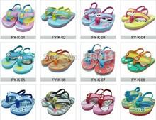 Caliente del nuevo del verano antideslizante de la historieta de los niños de Eva zapatos de la playa niños Flip flop niños zapatillas niños sandalias para muchachas de los bebés ' zapato(China (Mainland))
