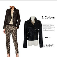 Free shipping/women clothing 2014/coats for woman/women jackets winter /denim jacket/PU leather jacket / rivets