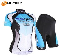 Free shipping NUCKILY summer Short sleeve cycling suit women bike clothes cycling clothing/cycling wear+short suit breathable