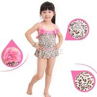 Baby Girls Toddler Swimwear Leopard Bikini Kids Bathing Suit One-Piece Swimsuit 15693