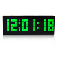 2014 promotion Wholesale Big LED Digital Alarm atmos Clock battery operated for Home Wall Watch.