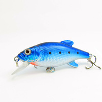 free shipping winter fishing lures fish beads hard bait luminous e fish minnow treble hook 11 g 8cm sea fishing tackle