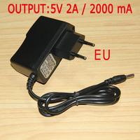 5PCS/Lot Wall Charger tablet PC Power Supply 5V 2A with EU 3.5mm Plug Adapter for All tablet Ainol Novo 7 Aurora etc EU35