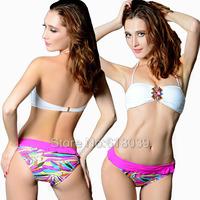 B061 VS Hot Bandeau Bikini Set Diamond Swimwear Sexy Rhinestone Beach Wear Swimsuit For Women Bathing Suit Sale 2013 Summer
