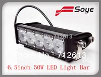 Hot Selling! 6.5inch 50W LED light bar,adjustable for off road led light 10w/cree led lighting bar