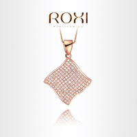 ROXI Exquisite Rose Gold luxurious Necklace plated with CZ diamonds,fashion Environmental Micro-Inserted Jewelry,1030321248