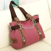 Women's handbag canvas bag vintage fashion women bag spring and summer fashion school bag female shoulder bag