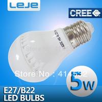 5pcs/lot free shipping  3W 5W 7W AC 110V 220v 230v 240v e27 B22 led lamp cold/warm white led bulb smd 2835 spotlight