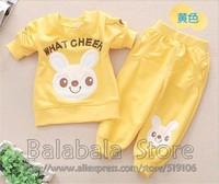 Free Ship!2013 New Arrive Spring Autumn Baby Sports Set 3set/lot Sport Clothing Set Baby Wear Rabbit Print Children Sport Suit