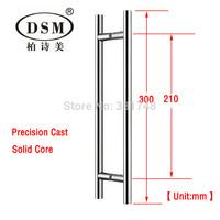 DSM Glass Door Handle PA-314-19*300mm Copper Pull Handle Chrome