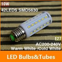 10W 12W 15W E27 110V 220V led bulb 5630 SMD LED Corn Bulb Warm cold White 360 degree High brightness Energy Efficient led Light