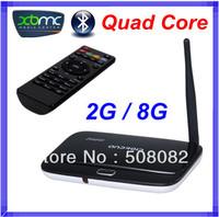 Bluetooth CS918 quad core tv box Android 4.2.2 2GB RAM 8GB ROM RK3188 Cortex A9 rk3188 mini pc HDMI XBMC RJ45 + Remote Control