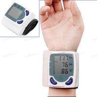 Digital Memory Wrist Blood Pressure Monitor & Heart Beat Meter Memory LCD Screen