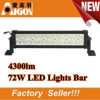 12V 72w  4300LM Work Light LED Bar Light Offroad Working Lamps ATV tractor Truck Trailer SUV Off road Boat Light bars