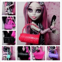 Free shipping,2014 New Arrival 8pcs Fashion Bag/Handbag Accessories For Barbie Doll,Monster High Doll