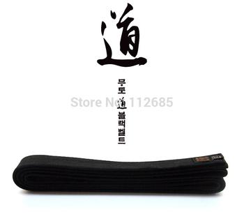 [ марии боевые искусства ] 2014 качество образца Mooto хлопок черный чай таэквондо ремня, пользовательских вышивка логотипа каратэ дзюдо айкидо