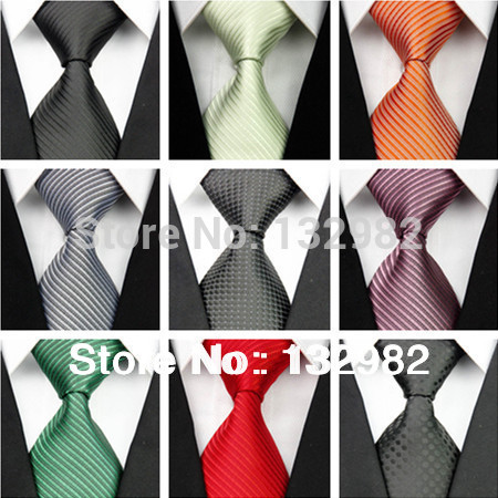 New 2014 Man Fashion Accessories Striped Polka Dot Jacquard Woven Classic Busines