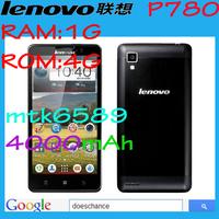 Original Lenovo P780 phone MTK6589 Quad Core Mobile Phone 5.0'' Gorilla Glass 8Mp 1GB RAM Android 4.2 Dual SIM Multi Language