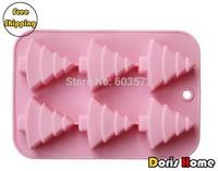 Free Shipping silicone Christmas tree  cake / jelly / soap maker / mold tray