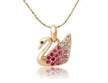 Free Shipping Elegant Popular Swan Design For Necklace      LHPL-70D