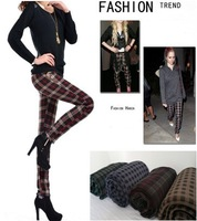 2013 new warm pants Carla velvet Thickening Slim plaid pantyhose Plus velvet leggings winter leggings
