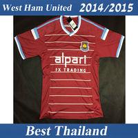 West Ham United 14 15 Soccer Jersey Best Thai Quality Shirt Football Home Red Soccer Uniform S-XL