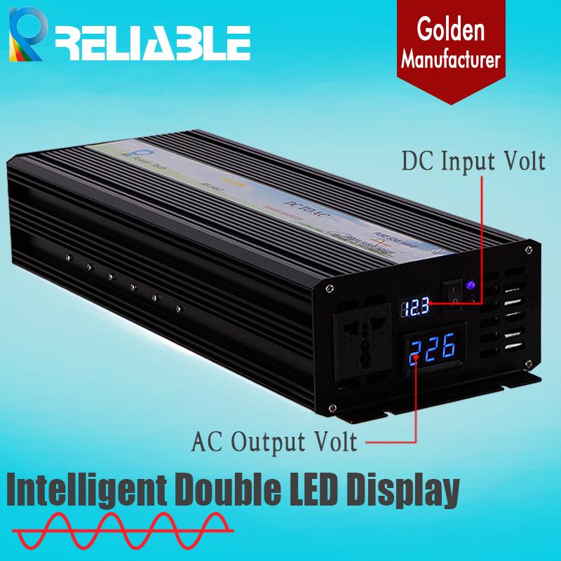 2500W 12/24/48VDC to 120/220/230/240VAC Double Digital LED Display Pure Sine wave Solar Inverter,50Hz Or 60Hz Off Grid Inverter(China (Mainland))