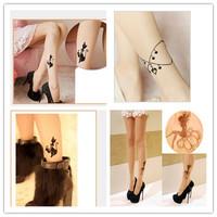 Stylish Sexy Women Chic Tight Printing Stockings Pantyhose Tattoo 15Style Free Shipping 1pcs/lot