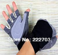 slip-resistant 2014 sport the hunting glove fitness gloves hot unisex women men fingerless gloves good mittens red free