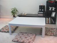 Japanese Kotatsu Furniture top reversible white/grey rectangle 105cm floor foldable legs kotatsu foot warmer heated table