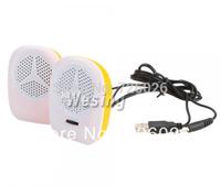 2014 hot selling Mini USB Powered MP3 Music Digital Speaker for PC/Laptop/mobile phone/mp3/mp4 digital product Orange+White