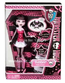 Original Monster High dolls,Draculaura,BBC40 system  Styles hot seller girls plastic toys Best gift for little girl Freeshipping