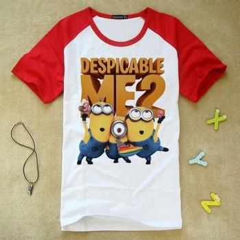100% Cotton Despicable me 2 Frozen T-shirt  Minions Children's Cartoon Apparel & Accessories clothes Children's Clothing