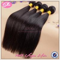 """She hair peruvian virgin hair straight 3 pcs lot free shipping 8""""-30"""" cheap peruvian hair human hair extension"""