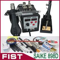 Saike 898D 220V or 110V 700W Hot Air Gun Solder Iron Soldering Station With