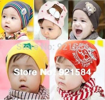 Baby caps kids beanie Boy&Girl cap/1 PCS Infant Toddler Skull elastic hat/1-3Years ...