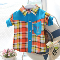 High Quality 2013 New Style High Quality Terry Kids Casual Shirt/ Boys Cloths/Long Sleeve/Autumn clothing for children
