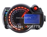 Adjustable Motorcycle digital speedometer LCD digital Odometer RED/BLUE Backlight MPH/KPH SH-025 Universal for all motorcycle