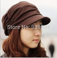 new2014 autumn winter caps beanies hats for men women Korean Fashion Lady's Fashion Drape Delicate Women winter Hats caps 3color