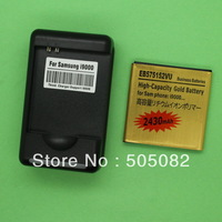 2430mAh new extended replacement  gold high capacity BATTERY+Dock charger for Samsung Galaxy S/Epic 4G i9000 I9088 T959